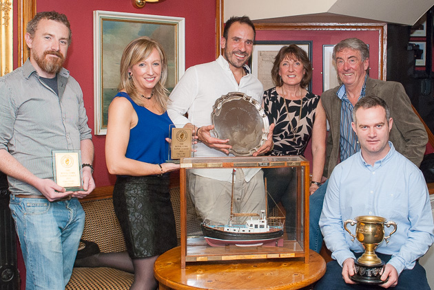 The Sea Hawk crew with their myriad of prizes including the Club Boat of the Year. Picture Robert Bateman