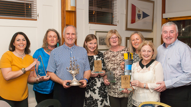 Another happy group of prizewinners including Peter Webster and John and Fiona Murphy. Picture Robert Bateman.