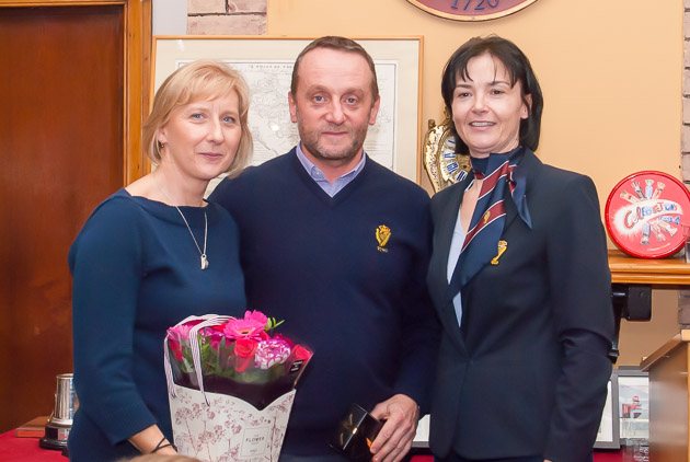 Louise and Darren O'Keeffe with Rear Admiral Dinghies Celine McGrath. Photo Robert Bateman