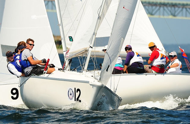 Part of the NYYC fleet in action. Pic Photobox