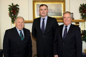 Picture at the launch of the 2016 Championships: David Lovegrove, ISA President and Championships PRO (left), Chris Howard (centre) Event Chairman and Berchmans Gannon, Commodore Howth Yacht Club (right)