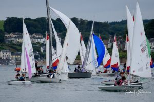 Downwind start for the AIB PY1000 with boats from various classes. Photo courtesy of Bob Bateman