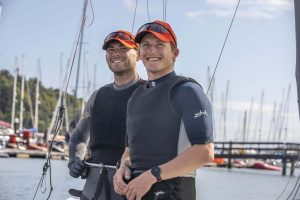 CMK 01092021 REPRO FREE NO FEE  Cork sailing athletes Seafra Guilfoyle and Johnny Durcan announce they will compete for the 2024 Olympics. Pciture Clare Keogh